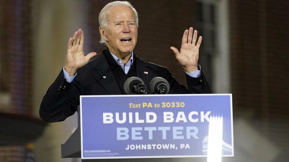 Joe Biden (ici en meeting, mercredi, en Pennsylvanie) a tenté de reconquérir le vote de l'électorat ouvrier blanc, qui a cédé aux promesses trumpiennes en 2016.