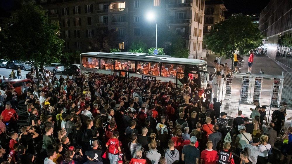 Dimanche 2 juin 2019: de retour à Neuchâtel après sa remontada face à Aarau (0-4), Xamax avait été accueilli par une foule en délire près de la Maladière.