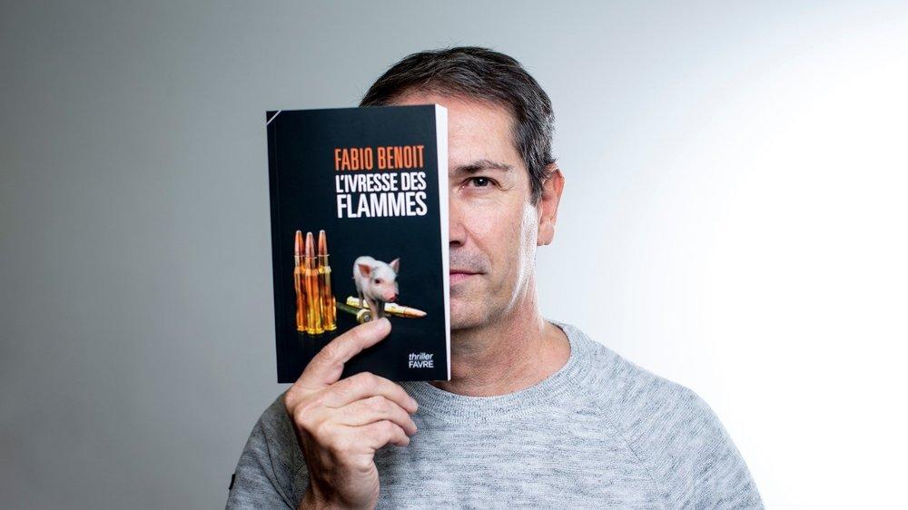 """On retrouve dans """"L'Ivresse des flammes"""" les personnages des deux premiers romans de Fabio Benoit, commissaire à la police judiciaire neuchâteloise."""