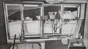 """Parmi les cinq oeuvres dont pourront s'inspirer les élèves, """"Les Places"""", ont été peintes par Lermite aux Bayards en 1957."""