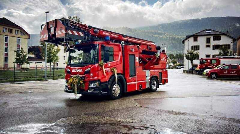 Le camion-échelle «dernier cri» de Val-de-Travers a été dévoilé