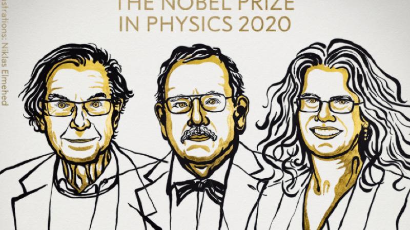 Prix Nobel de physique: un trio récompensé pour ses travaux sur les trous noirs
