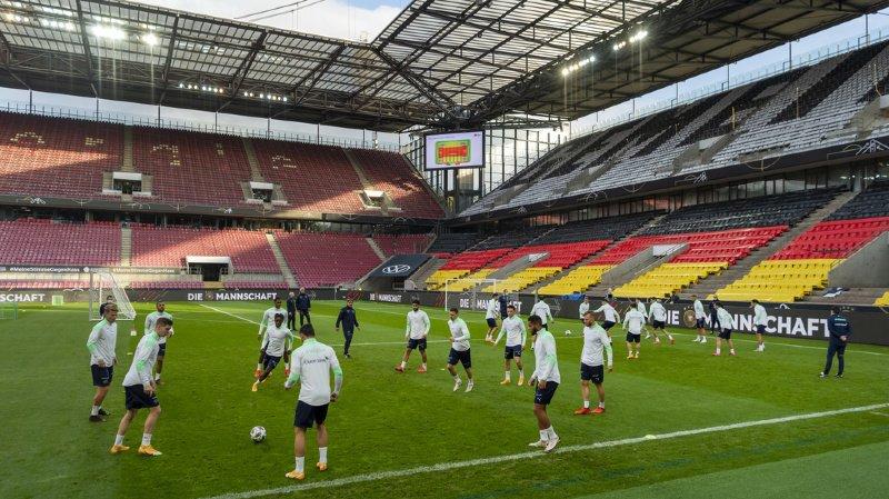 Le stade restera vide mardi pendant le match Allemagne - Suisse.