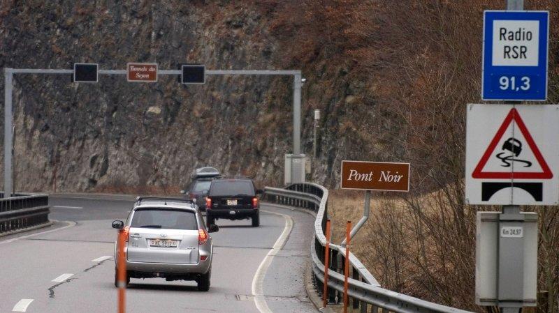 Collision en chaîne dans les Gorges du Seyon