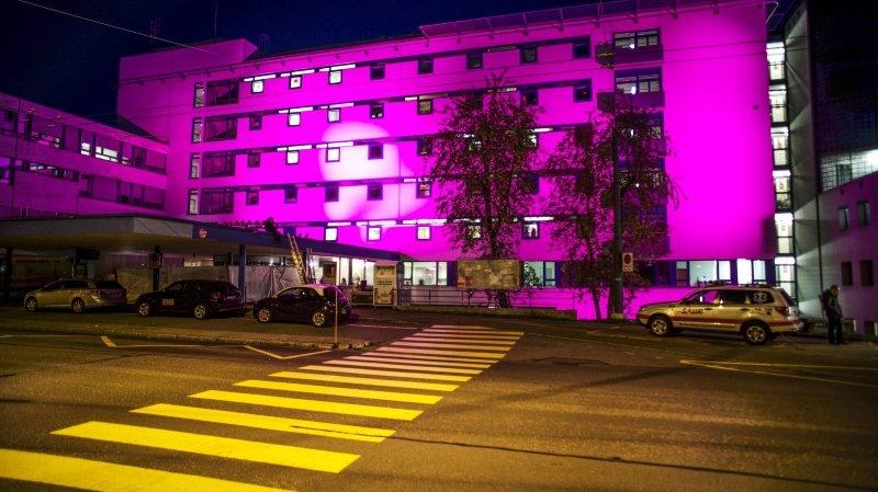 Cinq bâtiments neuchâtelois seront illuminés en rose pour sensibiliser au cancer du sein
