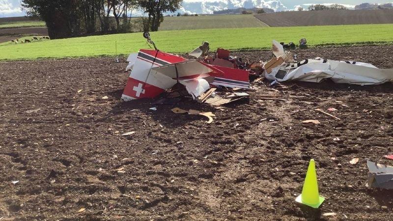 Vaud: un petit avion de tourisme s'écrase à Gimel et fait une victime