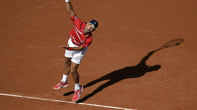 Djokovic n'a perdu que 5 jeux au 2e tour à Paris.