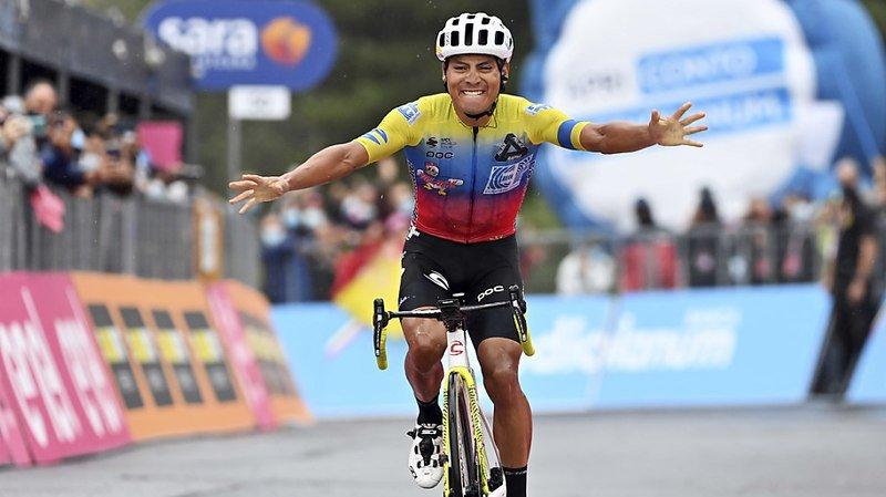 Cyclisme – Tour d'Italie: Caicedo gagne la 3e étape au sommet de l'Etna