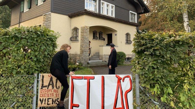 Le LAC squatte à nouveau une propriété de l'Etat à La Chaux-de-Fonds