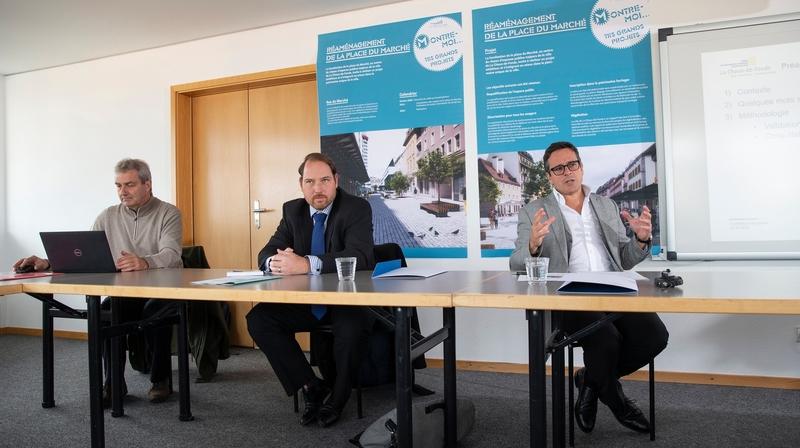 La Ville de La Chaux-de-Fonds veut une place du Marché piétonne dès 2022