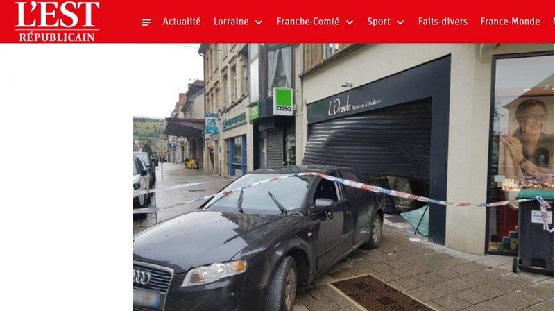 Les malfrats ont abandonné le véhicule utilisé comme voiture bélier sur les lieux de leur larcin.