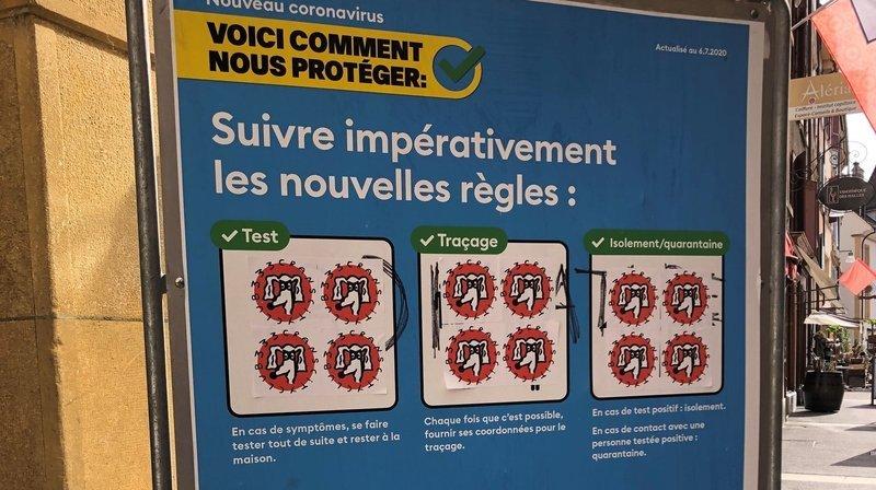 Neuchâtel: une affiche Covid détournée par des skaters nyonnais
