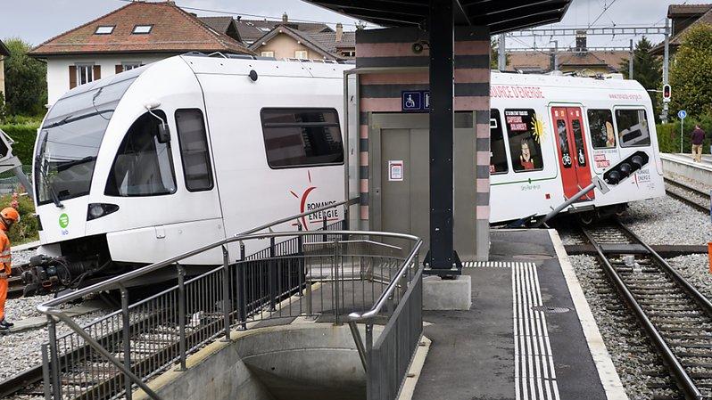 Vaud: une rame a déraillé en gare d'Echallens, un mécanicien légèrement blessé