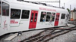 Vaud: une rame du LEB déraille en gare d'Echallens