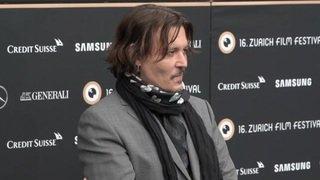 Johnny Depp sur le tapis vert du ZFF