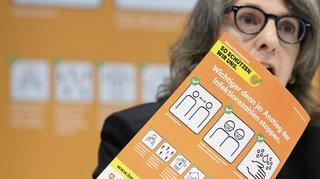 Coronavirus: la nouvelle campagne de l'OFSP passe à l'orange