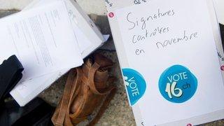 Politique: le droit de vote à 16 ans débattu