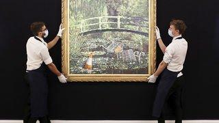 Peinture: un tableau de Banksy parodiant Monet a été vendu plus de 7 millions de livres aux enchères