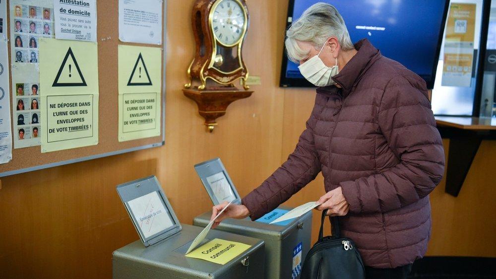 Le bureau de vote de La Chaux-de-Fonds dimanche dernier.