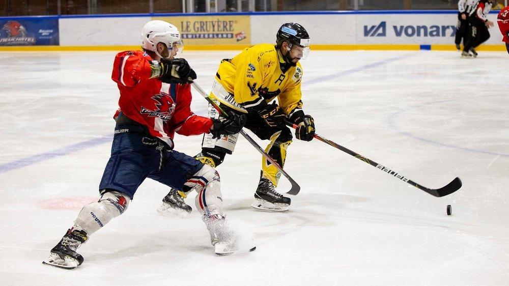 Le HC Université Neuchâtel (ici face au HC Saint-Imier) devrait reprendre les compétitions en janvier 2021.