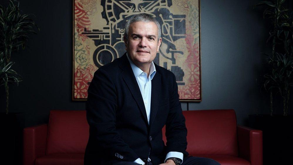 Ricardo Guadalupe, CEO d'Hublot, photographié au siège de l'entreprise, à Nyon, en février 2020.