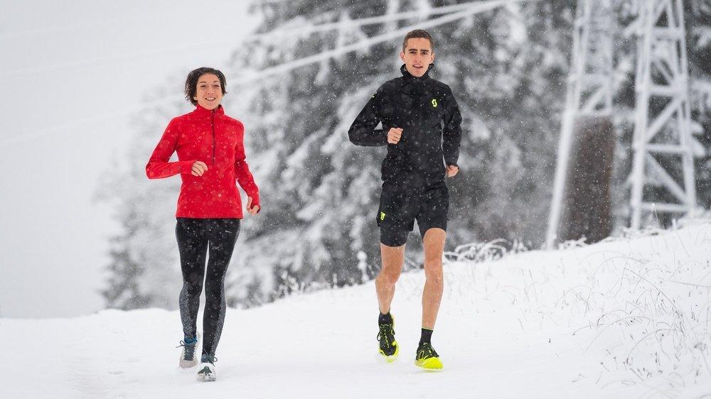 Ariane Wilhem et Pascal Buchs ont affronté la neige à Tête-de-Ran avant de se rendre aux Açores.