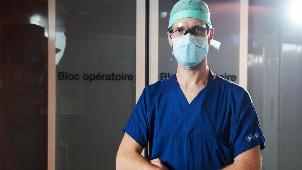 Christian Fuligno-Schmidt , infirmier anesthésiste, travaille pour l'hôpital sur le site de Pourtalès, à Neuchâtel.