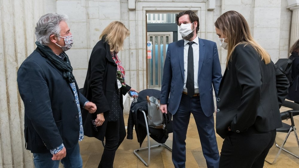 Quatre des cinq nouveaux conseillers communaux de Neuchâtel: de gauche à droite Thomas Facchinetti, Nicole Baur, Didier Boillat et Violaine Blétry-de Montmollin.