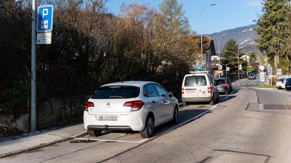 La rue des Vermondins, où la durée de stationnement est limitée, fait partie de la zone 1.