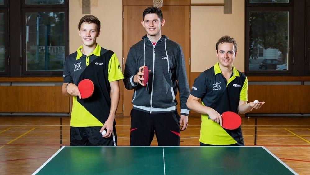 Le trio neuchâtelois du CTT La Chaux-de-Fonds (de gauche à droite: Barish Moullet, Gaël Vendé et Julien Märki) est prêt à en découdre avec les meilleures équipes du pays.