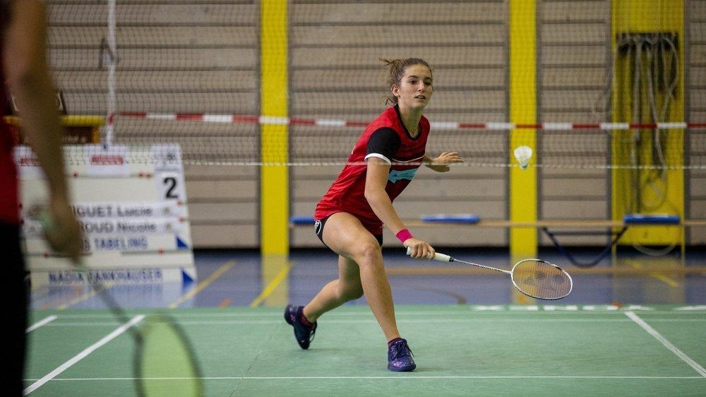 Lucie Amiguet sous les couleurs du BC La Chaux-de-Fonds, en Ligue nationale A.