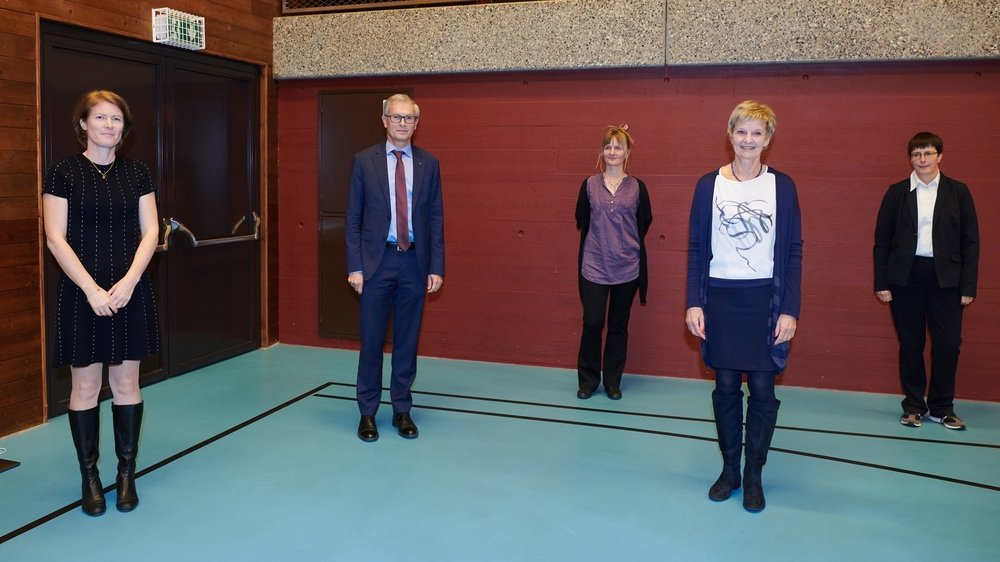 De g. à dr.: Solange Platz-Erard, Philippe DuPasquier, Roxane Kurowiak, Marlène Lanthemann et Natacha Aubert.