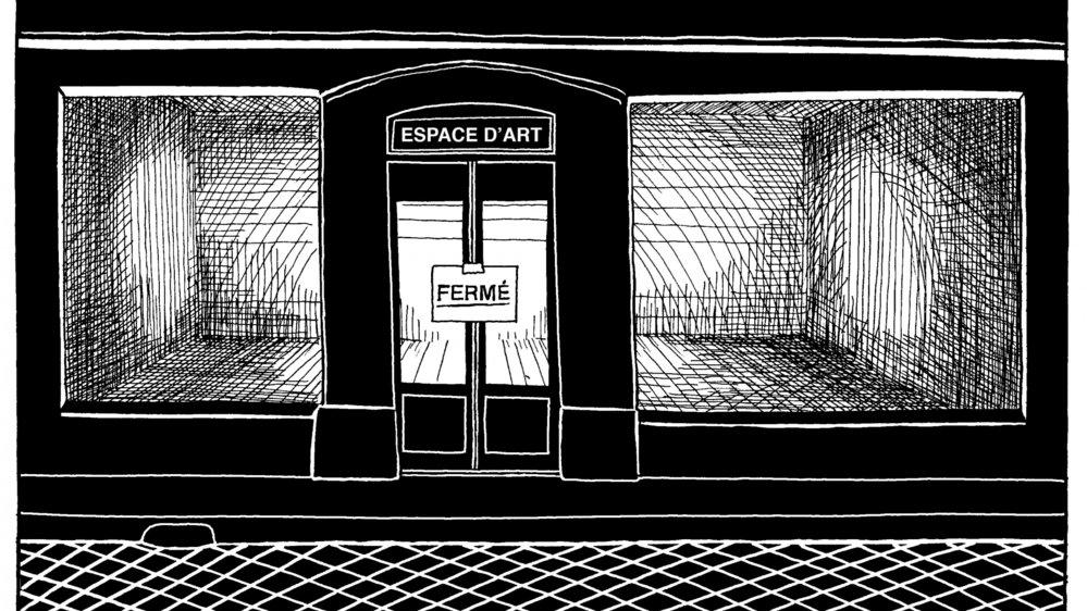La crise sanitaire vue par l'artiste Manuel Perrin.