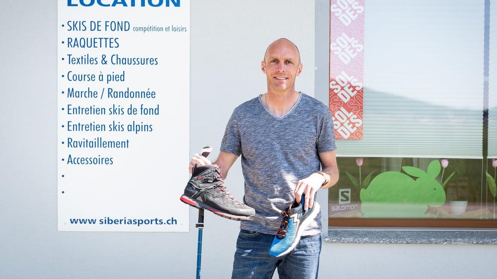 Pascal Schneider, gérant de Siberia Sport, a mieux travaillé cet été que les autres années.