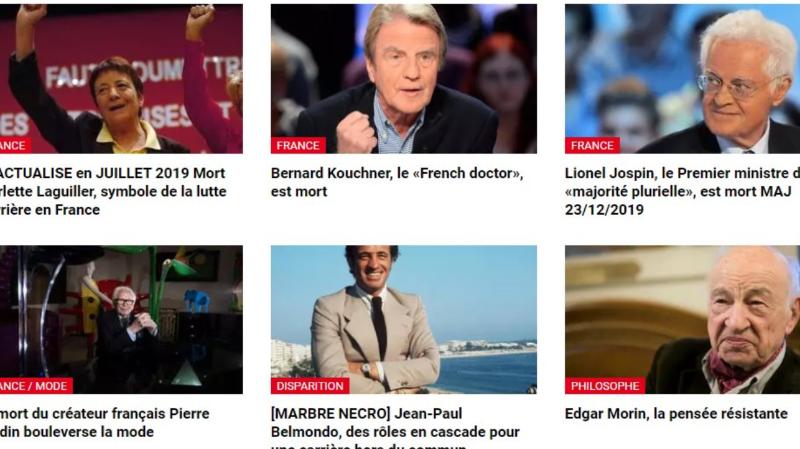 Nécrologies: la radio française RFI annonce par erreur la mort de plusieurs personnalités
