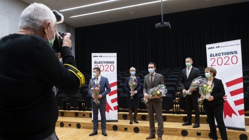 Canton du Jura: David Eray et ses quatre collègues du Gouvernement réélus