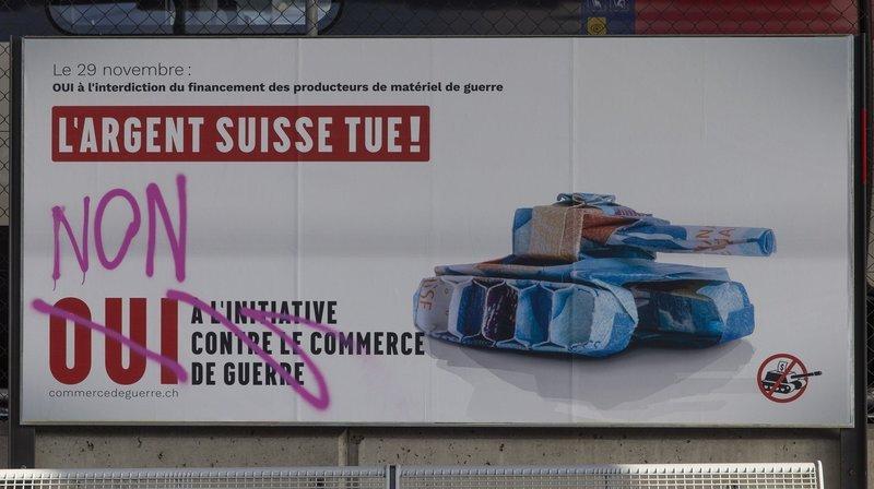 L'initiative sur le commerce de guerre est soumise au vote du peuple suisse le dimanche 29 novembre.