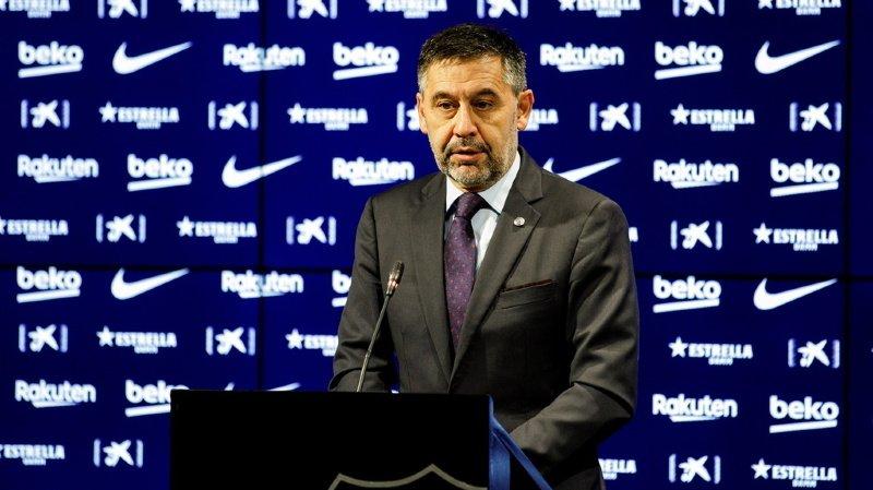 Football: le président du FC Barcelone démissionne