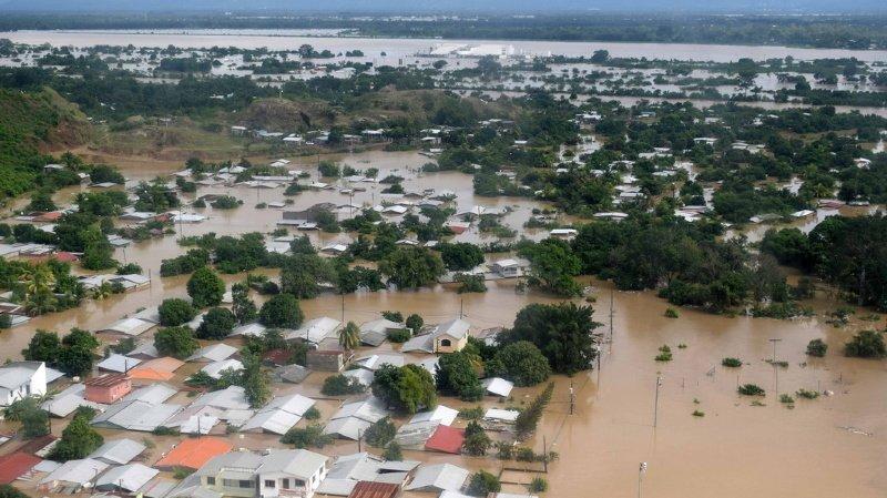 Les conséquences de Iota sont dramatiques pour l'Amérique centrale, comme ici dans la zone de Planeta La Lima, au Honduras, alors que la région a déjà été durement frappée par Eta.