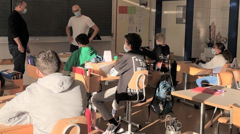 Une classe du Ceras, le Centre régional d'apprentissages spécialisés, à La Chaux-de-Fonds.