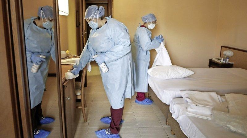 L'hôpital Gemelli, à Rome, est l'un des établissements qui accueillent des patients Covid-19 présentant  peu de symptômes.