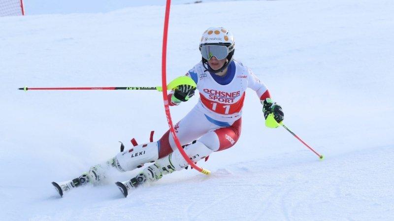 Ski alpin: Amélie Klopfenstein championne de Suisse de slalom