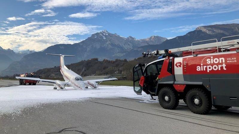 Un petit avion a dû atterrir en urgence à Sion (VS)