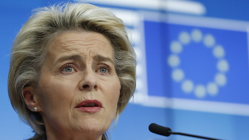 L'Allemande Ursula von der Leyen préside la Commission européenne depuis le 1er novembre 2019.