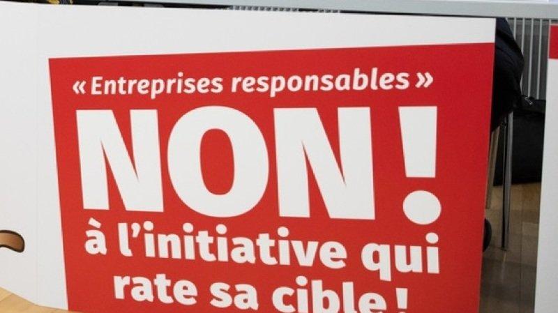 Economie: quatre faîtières contre l'initiative pour des multinationales responsables