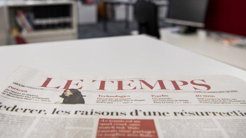 Médias: le journal «Le Temps» racheté par la Fondation Aventinus