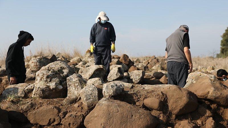 La structure découverte, dont une partie a été présentée mercredi à la presse, s'étire sur environ 1000 mètres carrés.