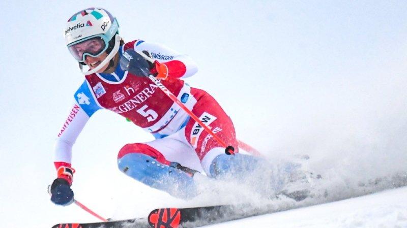 Michelle Gisin termine deuxième du slalom de Levi derrière la Slovaque Petra Vlhova.