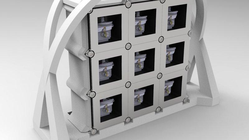 Le projet de micro-usine tel qu'imaginé par la HE-Arc Ingénierie (image de synthèse).