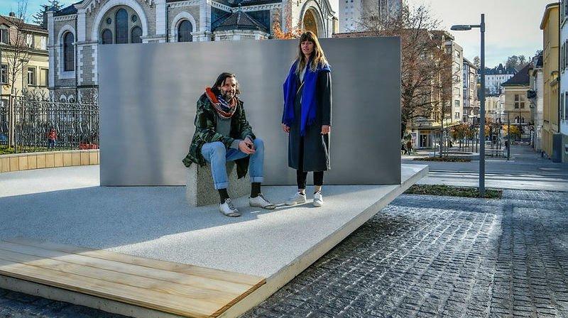 La Chaux-de-Fonds: inspirée par Le Corbusier, la sculpture est conçue comme «un tapis volant»